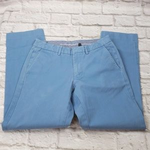 "J.Crew men's Bowery Blue Chinos ""Flaw"" 30X32"